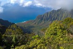 Kalalau Valley. On Kauai, Hawaii Stock Photos