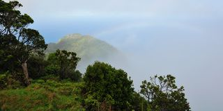 Kalalau Valley Overlook, Kauai (Hawaiian Islands) Royalty Free Stock Images