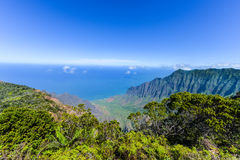 Kalalau Valley Panorama Stock Images