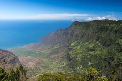 Kalalau Valley Panorama Royalty Free Stock Photo