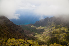 Kalalau Valley. From the top of Waimea Canyon, Kauai, Hawaii Stock Photography