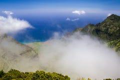 Kalalau Valley. View from the Kalalau Lookout in Kokee State Park into Kalalau Valley at the Na Pali coast on Kauai, Hawaii, USA Stock Photography