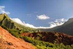 Kalalauvallei bij de Kust van Na Pali - Kauai, Hawaï Stock Afbeelding