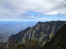Kalalauvooruitzicht op het noordenkust van Kauai Hawaï Stock Afbeeldingen