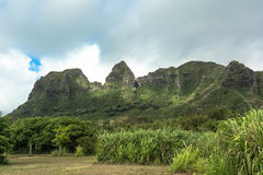 Kalalea mountains on Kauai, Hawaii. View of the Kalalea mountains from Anahola on Kauai, Hawaii Royalty Free Stock Photo