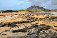 Kalama lava flow and Koko Crater Royalty Free Stock Images