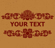 Kalamakara Text Decoration2 Stock Photography