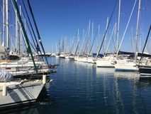 Kalamaki at Athens. Port of boat for sailling Royalty Free Stock Images