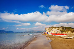 Kalamaki beach on Zakynthos island, Greece. Kalamaki beach (protected Caretta Caretta turtle nesting site) on Zakynthos island, Greece stock images