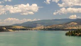 Kalamalka湖在不列颠哥伦比亚省 免版税库存图片