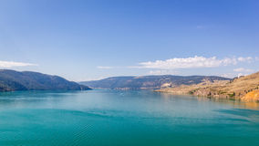 Kalamalka jezioro w kolumbiach brytyjska Obraz Royalty Free