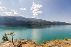Kalamalka sjö i British Columbia Royaltyfria Bilder