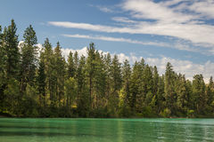 Kalamalka sjö i British Columbia Royaltyfria Foton