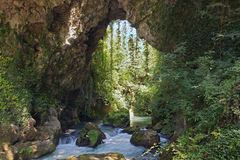 Kalamas river gorge in Greece Stock Image