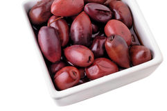 Kalamata black olives. With clipping path Royalty Free Stock Photography