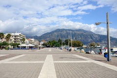 Kalamata. GREECE – OCT 4: Seafront of the capital and chief port of the Messenia regional unit shown on oct 4, 2013 in . Is the second most populous city of Stock Photography