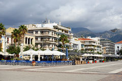 Kalamata. GREECE – OCT 4: Seafront of the capital and chief port of the Messenia regional unit shown on oct 4, 2013 in . Is the second most populous city of Royalty Free Stock Photo