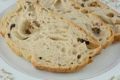 Kalamata olive bread slices Royalty Free Stock Photography