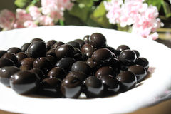 Kalamata olives Royalty Free Stock Images