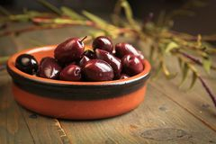 Kalamata olives Royalty Free Stock Photography