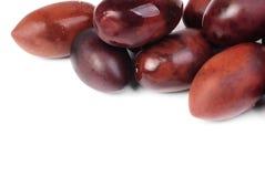 Kalamata olives isolated on white Stock Photo