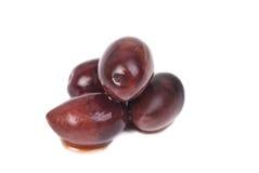 Kalamata olives isolated on white Stock Photos