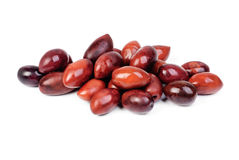 Kalamata olives  on white Royalty Free Stock Photography