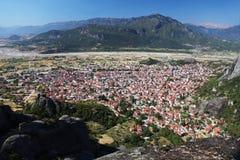 Kalambaka в Греции стоковые изображения