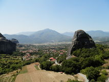 Kalambaka. Beautiful monasteries of Meteora, Greece Royalty Free Stock Image