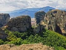 Kalambaka Grécia imagem de stock