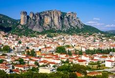 Kalambaka Grekland Arkivbilder