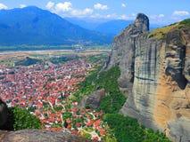 Kalambaka, Meteora, Grèce Images libres de droits
