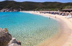 Kalamitsi beach Stock Photo