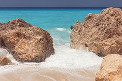 Kalamitsi beach,  Ionian Sea, Lefkada Stock Photography
