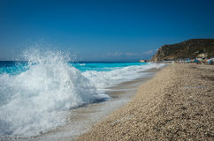 Kalamitsi beach, Levkada, Ionian islands, Greece royalty free stock image