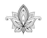 Kalamkari artistiek ontwerp op witte achtergrond royalty-vrije stock afbeelding