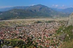 Kalampaka Town and the rock, Greece Stock Image