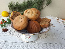 Kalanchoe muffins, cooking vegetarian food with kalanchoe leaves. And cinnamon stock photos