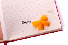 Kalender, 27th april 2014 Royalty Free Stock Photos