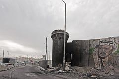 Kalandia punkt kontrolny w Ramallah Obrazy Royalty Free