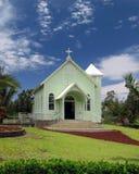 Kalapana Church Edifice. Malia Hoku o ke Kai painted church in Kalapana, HI stock photography