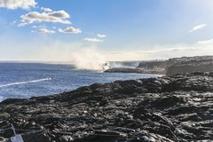 Kalapana Lava ocean entry on Hawaii big island. Kalapana Lava ocean entry, Hawaii big island Royalty Free Stock Photo