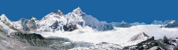 从Kalapatthar的珠穆琅玛全景 图库摄影