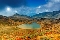 Kalapokhri jezioro, Sikkim, Himalajski pasmo górskie, Sikkim Zdjęcie Royalty Free