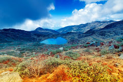 Kalapokhrimeer, Sikkim, Himalayan-Bergketen, Sikkim Royalty-vrije Stock Foto