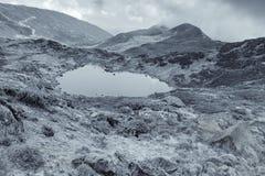 Kalapokhrimeer, Sikkim, Himalayan-Bergketen, Sikkim Royalty-vrije Stock Foto's