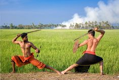 Kalari, arte marcial indiana Foto de Stock