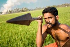 Kalari, indian martial art. Kalarippayat, indian ancient martial art of Kerala royalty free stock images