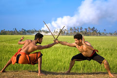 Kalari, indian martial art Royalty Free Stock Photos