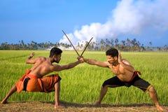 Kalari, indian martial art. Kalarippayat, indian ancient martial art of Kerala royalty free stock photos